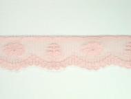 """Pink Edge Lace Trim w/ Sheen - 1.125"""" (435 yards) (PK0118E02W)"""