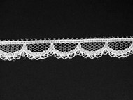 "White Edge Lace Trim - 0.5"" (550 yards) (WT0012E01W)"