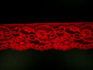 "Red Edge Lace Trim - 2.625"" (238 yards) (RD0258E01W)"
