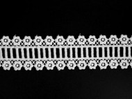 "White Novelty Lace Trim - Embroidered - 1.625"" (WT0158N01)"