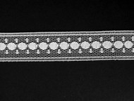 "White Insertion Lace Trim - 0.75"" (436 yards) (WT0034E02W)"