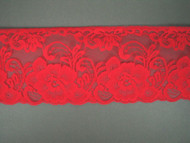 "Bright Fuchsia Edge Lace Trim - 3.75"" (120 yards) (FS0334E01W)"