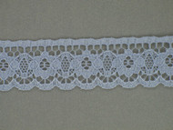 "Grey-Blue Edge Lace Trim - 0.75"" (350 yards) (GB0034E01W)"