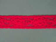 "Cherry Pink Edge Lace Trim - 1.25"" (170 yards) (CH0114E01W)"