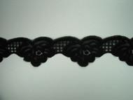 "Black Scalloped Lace Trim - 2.5"" (258 yards) (BK0212S01W)"