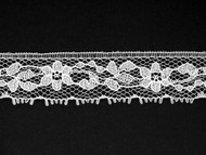 "White Edge Lace Trim - 0.75"" (447 yards) (WT0034E07W)"
