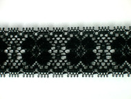 "Black Edge Lace Trim - 1.375"" (134 yards) (BK0138E01W)"