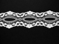 "White Galloon Lace Trim - Beading - 1.125"" (500 yards) (WT0118G01W)"