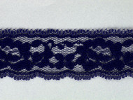 "Royal Blue Edge Lace Trim - 1.25"" (242 yards) (RB0114E01W)"