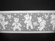 "White Insertion Lace Trim - Teddy Bears - 4.375"" (156 yards) (WT0438E01W)"
