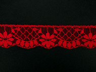 "Red Edge Lace Trim - 1.25"" (645 yards) (RD0114E01W)"