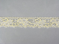 "Beige Edge Lace Trim - 1.25"" (234 yards) (BG0114E01W)"