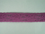 "Grape Edge Lace Trim - 1.125"" (174 yards) (GR0118E02W)"