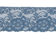 "Steel Blue Edge Lace Trim - 3.5"" (120 yards) (SB0312E01W)"