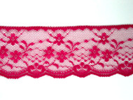 "Dk Rose Edge Lace Trim - 2.125"" (220 yards) (RS0218E01W)"