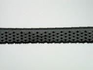 "Black Edge Lace Trim - 0.875"" (316 yards) (BK0078E02W)"
