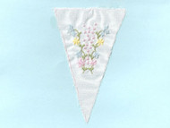 "Off White Insert w/ floral embroidery - 3.75"" Wide (2.25"" Embroidered) (API022)"