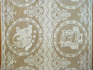 "Beige Quaker Lace (Sewing Basket / Sewing Machine) - 34"" Wide (QL02)"