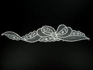 "White Netting Applique - 11"" x 2"" (APM019)"