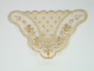 "Beige Netting Applique - 3.25"" wide x 2"" (APM015)"
