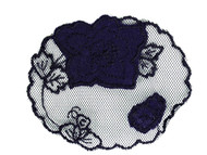 "Navy Rose Applique - 4.25"" x 3.375"" (APM002)"