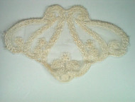 "Ivory Netting Applique - 6"" x 4"" (APM007)"