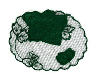 "Hunter Green Rose Applique - 4.25"" x 3.375"" (APM003)"