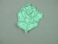 "Sea Foam Embroidered Satin Rose Applique - 1.75"" wide x 2"" Tall (APM060)"