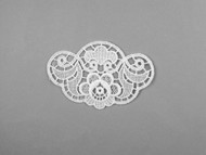 "White Venise Applique - 4.375"" wide x 2.875"" (APM065)"
