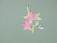 "Pink, Mint & Blue Floral Embroidered Applique - 1.5"" x 1.5"" (APM030)"