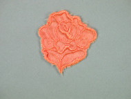 "Dark Peach Embroidered Satin Rose Applique - 1.75"" wide x 2"" Tall (APM061)"