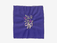 "Purple Embroidered Nylon Tricot Patch - 2.5"" x 2"" Embroidery (APP003)"