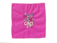 """Fuchsia Embroidered Nylon Tricot Patch - 2.5"""" x 2"""" Embroidery (APP004)"""
