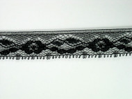 "Black Edge Lace Trim - 0.75"" (BK0034E03)"