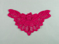 "Fuchsia Venise Applique - 4.75"" wide (APM082)"