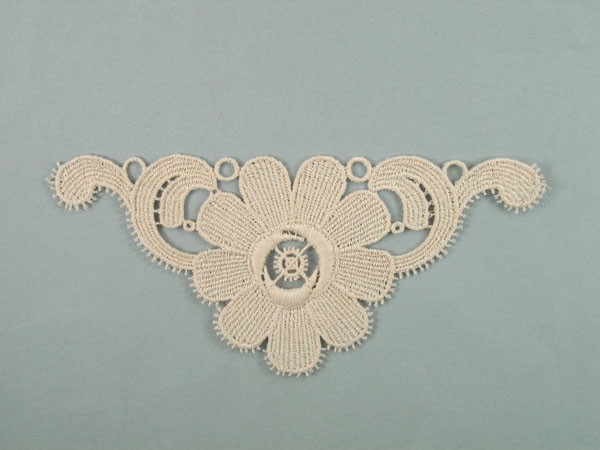 White long inch by inch bridal lace appliques pair