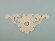 "Beige Cluny Lace Applique - 6.25"" wide x 3"" (APM073)"