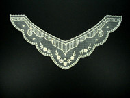 "Ivory Embroidered Netting Yoke - 9"" wide x 5"" (APY013)"