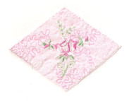 "Pink Embroidered Tricot Diamond Patch - 6"" Wide x 4.75"" (APP006)"
