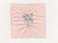 "Peach Embroidered Nylon Tricot Patch - 2.5"" x 2"" Embroidery (APP001)"