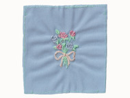 """Blue Embroidered Nylon Tricot Patch - 2.5"""" x 2"""" Embroidery (APP002)"""