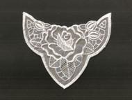 "White Embroidered Organza Applique - 5.5"" wide x 4.5"" (APM085)"