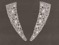"""White Embroidered Yoke (Set of 2) - 13.75"""" Long (APY043)"""