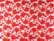 "Red Allover Lace - 58"" (RDAL01)"