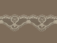 "Dk Beige Scalloped Lace Trim - 1.625"" (CC0158S01)"