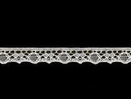 "White Edge Lace Trim - .5"" (WT0012E08)"