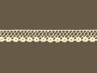 "Ivory Edge Lace Trim - Cotton - .625"" (IV0058E08)"