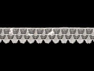 "White Edge Lace Trim - 1"" (WT0100E07)"