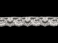 "White Edge Lace Trim - 1"" (WT0100E08)"