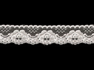 "White Edge Lace Trim - 1.5"" (WT0112E05)"